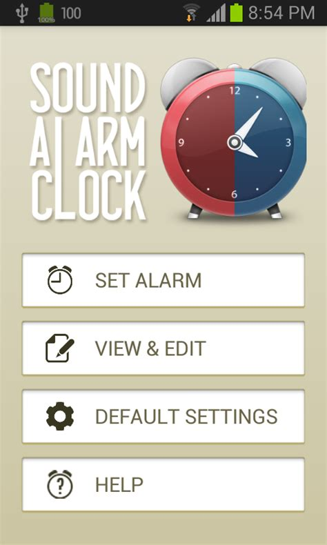 Sound Alarm Clock - Android App Source Code by Harnetts