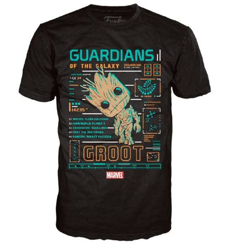Marvel Guardians of the Galaxy Groot Line Up Pop! T-Shirt