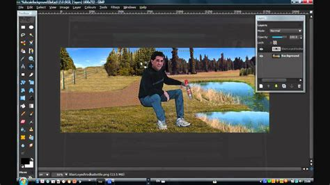 GIMP Working With Layers Scale - YouTube