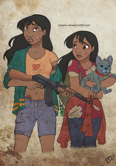 What if Disney characters were living in a zombie apocalypse?