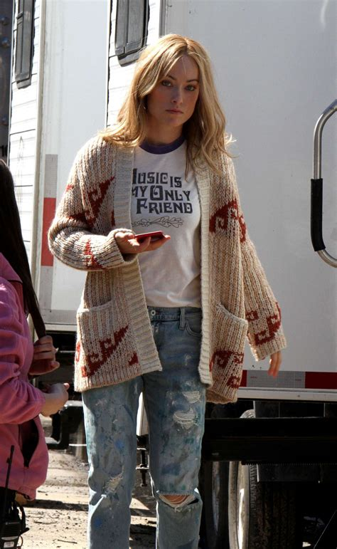 Olivia Wilde at the 'Life Itself' movie set in Staten