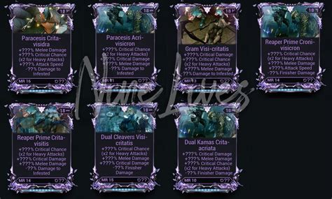 [Low price] Perfect melee rivens [120$ Each riven mod