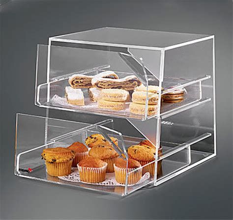 Rosseto® Three-Tier Clear Acrylic Bakery Display Case With