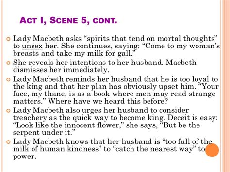 Macbeth ( analysis of acts )