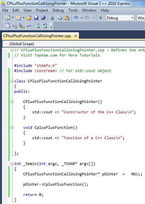 Call Function of C++ Class with NULL Pointer | C++ Code