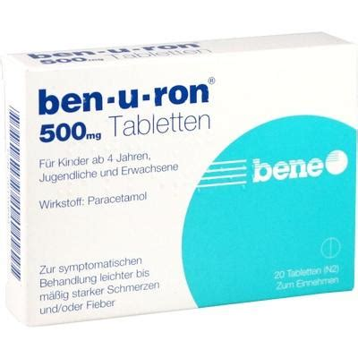 BEN-U-RON 500 mg Tabletten 20 St buy online at low prices