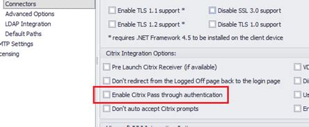 Citrix Pass through authentication not working - ThinScale