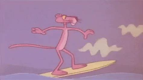 Pink Panther GIF - PinkPanther Surfing Wave - Discover