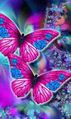 Download Animated 240x400 «Butterflys» Cell Phone