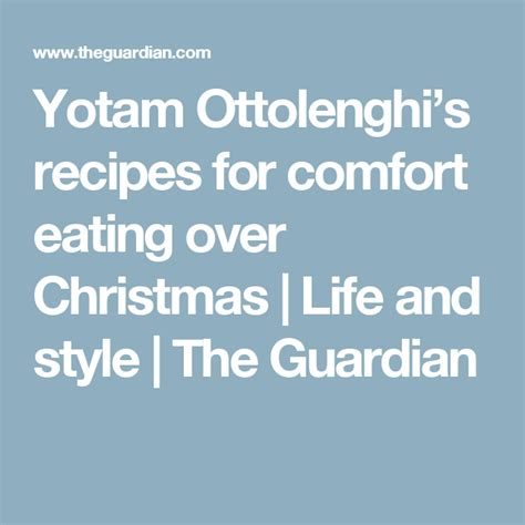 Yotam Ottolenghi's recipes for comfort eating over