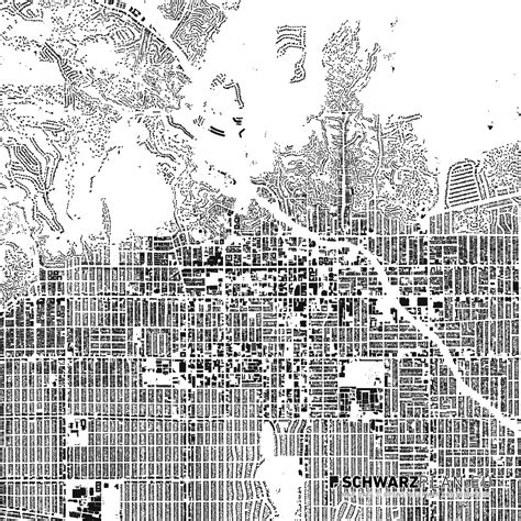 Site Plan & Figure Ground Plan of Hollywood – LA for