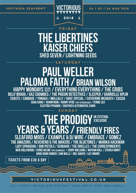Victorious Festival Line up 2018