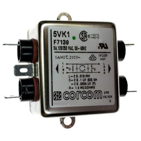 5VK1 TE Connectivity Corcom Filters | Filters | DigiKey