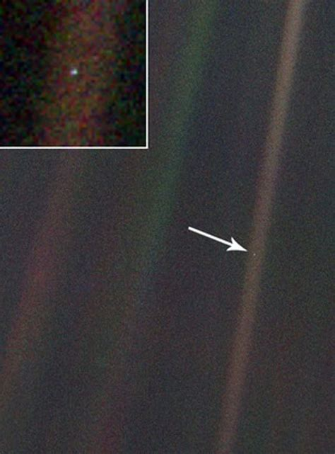 """""""Pale Blue Dot is a photograph of planet Earth taken from"""