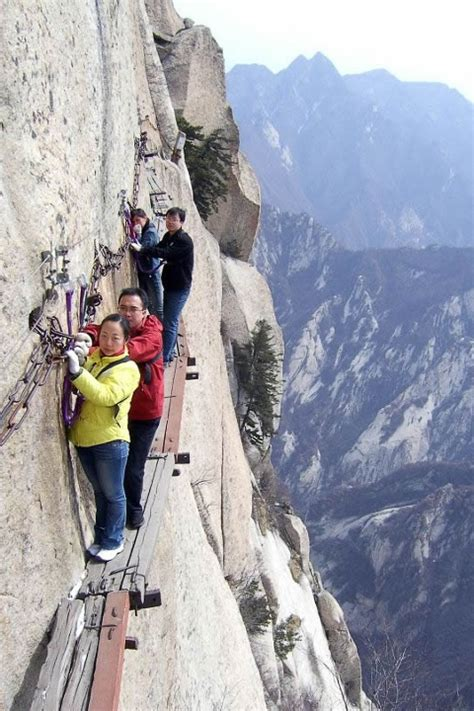 Don't look down: a glimpse at the world's scariest hikes