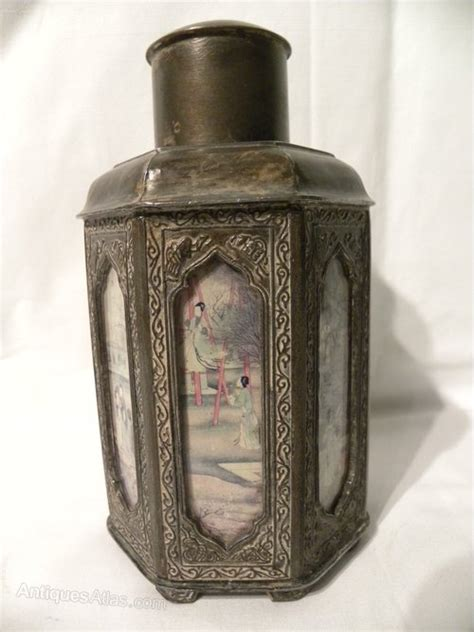 Antiques Atlas - Chinese Pewter Tea Caddy