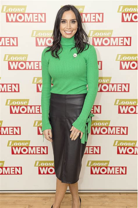 Christine Bleakley attends Loose Women TV Show - Leather