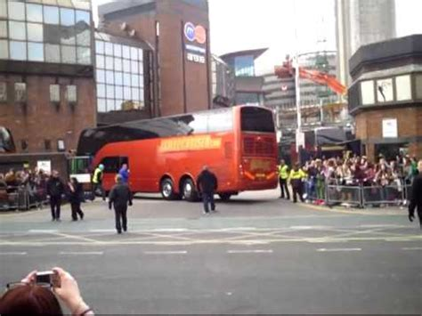 One Direction's tour bus arriving at Cardiff Motorpoint