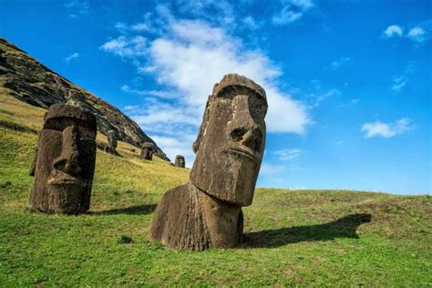 The iconic Easter island statues are getting disfigured