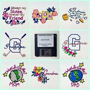 Special Family Quotes Embroidery Designs Disk for