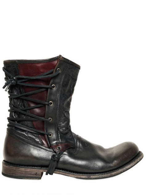 Lyst - John Varvatos 20mm Lace Up Leather Pirate Boots in