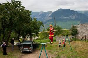 Tightrope Walking Continues in Russia's Remote Villages