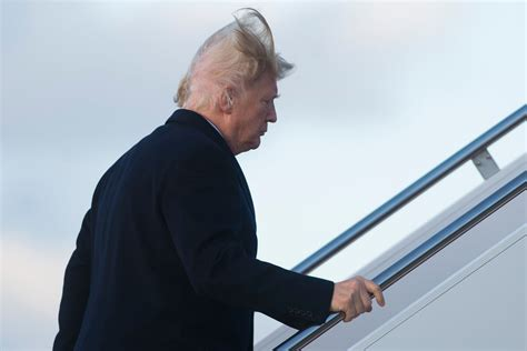 Video of Donald Trump's hair blowing in the wind fuels