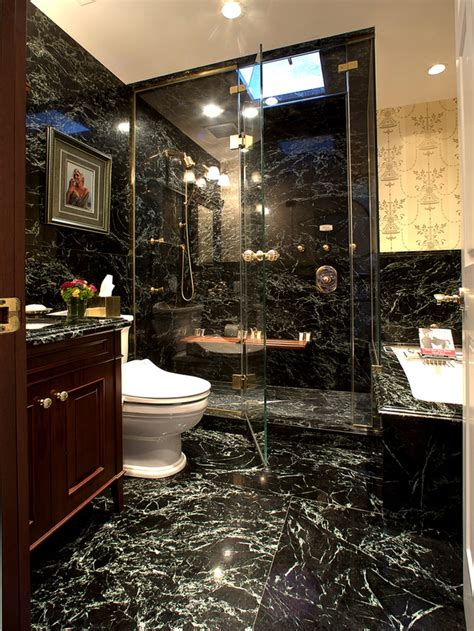 30 black marble bathroom tiles ideas and pictures 2020